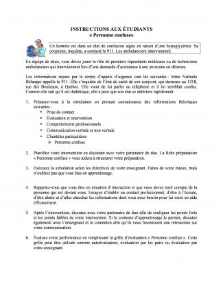 Document : Instructions (Personne confuse)